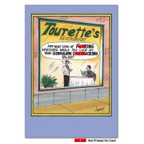 Tourette's Restaurant Unique Funny Birthday Card with Envelope 7724