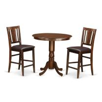 3 Pc counter height set- high Table and 2 Dining Chairs