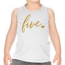 Bump and Beyond Designs Fifth Birthday Outfit Girl Five Year Old Girl Birthday Tank Top