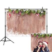 Allenjoy 8x6ft Winter Christmas Backdrop Photography Snowflake Wood Background Christmas Decoration Backdrops for Baby Shower Kid Studio Photo Shoot Prop Photobooth