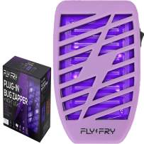 FLYFRY Indoor Bug Zapper for Home Plug in - Electronic Mosquito Trap - UV Electric Killer - Mosquito Repellent Night Lamp for Mosquitoes Gnats Moths Bugs - Odorless Noiseless - Purple