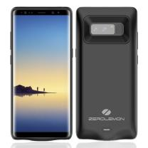 Galaxy Note 8 Battery Charger Case, ZeroLemon SlimPower 5500mAh Extended Charging Case Portable Battery Case for Galaxy Note 8 - Black