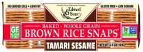 Edward & Sons Brown Rice Snaps Tamari Sesame, 3.5 Ounce Packs (Pack of 12)