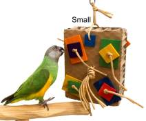 Cardboard Shreddy Toy for Parrots (Choose a Size)