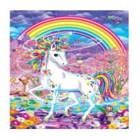 MXJSUA DIY 5D Diamond Painting by Number Kits Full Round Drill Rhinestone Picture Art Craft Home Wall Decor Rainbow Unicorn 12x12In