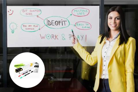 Whiteboard Sticker – All-In-One for Wall, Office, School, Home – Best for Kids Drawing, Writing – Premium Easy Dry Erase – For Marketing, TO-DO list, Shopping List, Brainstorming
