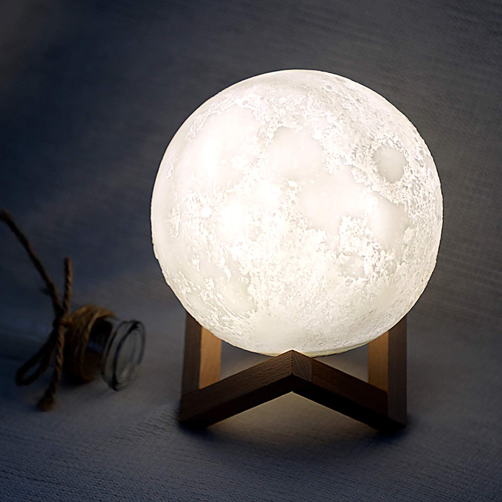 Moon-Shaped White Noise Machine, Also a Moon lamp, with Bluetooth, 10 Soothing Music for Sleep Therapy, Gorgeous Decor and Small Speaker for Bedroom, a Nice Gift