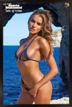 "Trends International Sports Illustrated: Swimsuit Edition - Tanya Mityushina 16, 14.725"" x 22.375"", Black Framed Version"