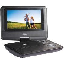 NAXA Electronics NPD-703 7-Inch TFT LCD Swivel Screen Portable DVD Player - Black lacquer