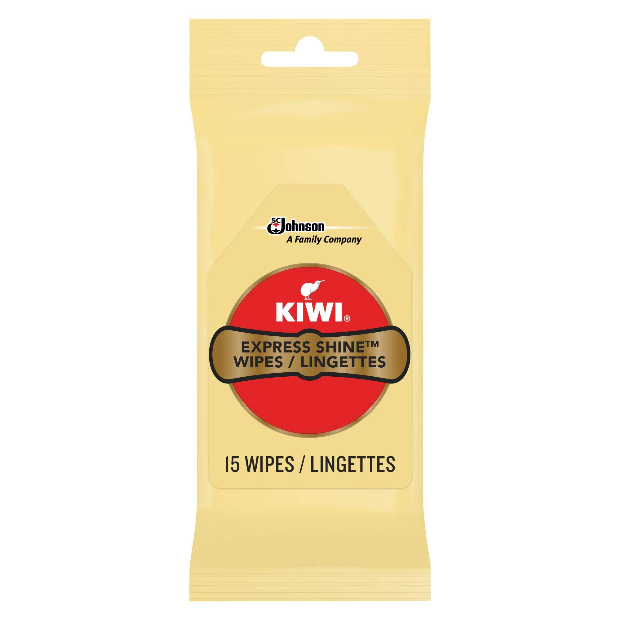 KIWI Express Shine Wipes, 15Ct