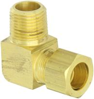 "EATON Weatherhead 69X10 Male Elbow, CA360 Brass, 5/8"" Tube OD, 1/2"" Male Pipe Size"