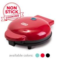 """Dash DEWM8100RD Express 8"""" Waffle Maker Machine for Individual Servings, Paninis, Hash browns + other on the go Breakfast, Lunch, or Snacks, with Easy Clean, Non-Stick Sides, Red"""