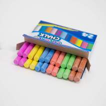 BAZIC Assorted Color Chalk, Blackboard Chalkboard 6 Colors Chalks, Great Game Activity for Kids, Art Teacher Office Classroom Store Home (24 pcs/pack)