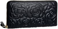 Heshe Womens Long Wallet Credit Card Case Holder Clutch Zippered Around ,Black-E