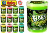 JA-RU Flarp Putty Glow in The Dark Scented Noise Putty (12 Units Assorted Color) Squishy Shine Neon Colors, Noise Putty Slime, ADHD Autism Stress Toy Party Favor Toys Kids Boys & Girls 341-12p