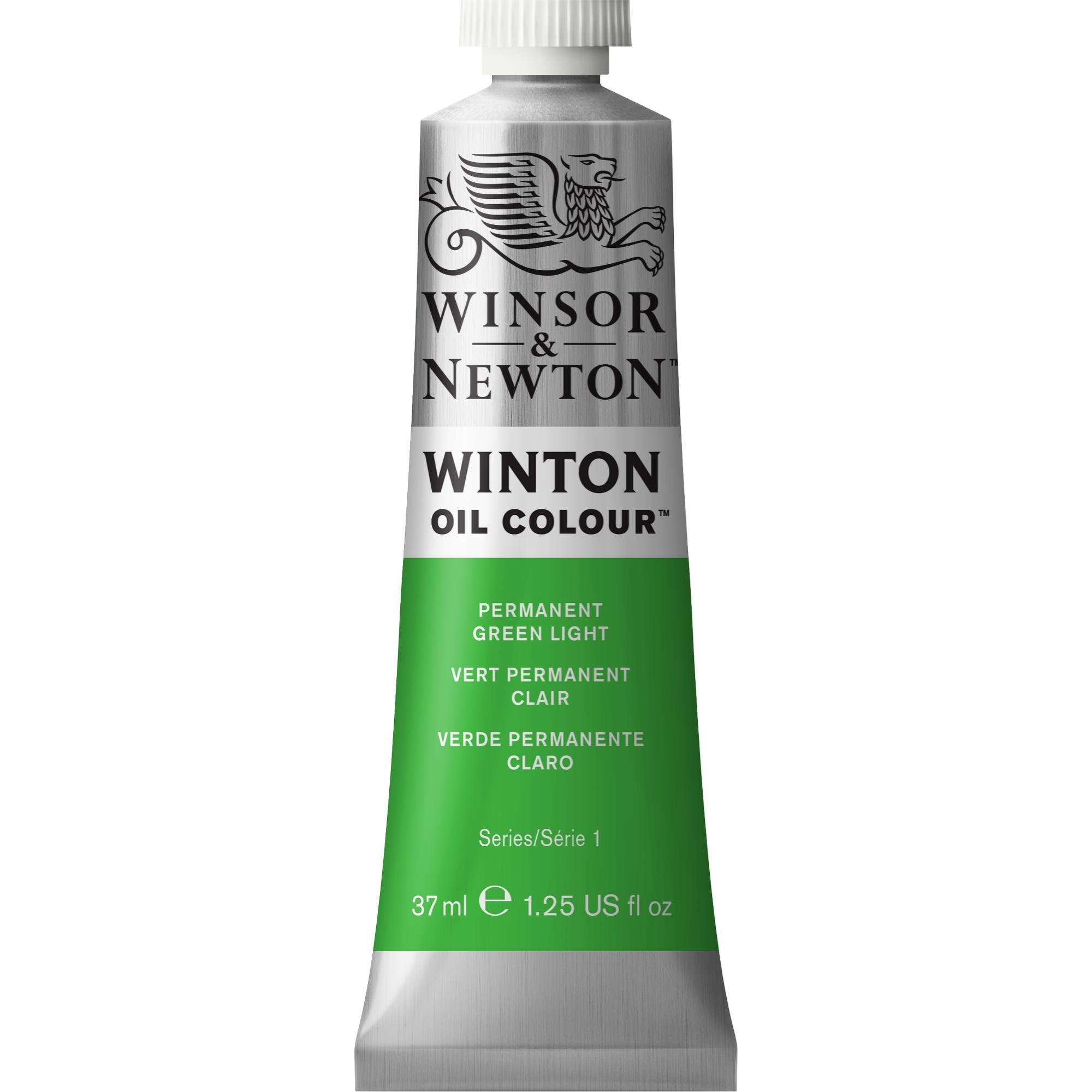 Winsor & Newton Winton Oil Colour Paint, 37ml tube, Permanent Green Light