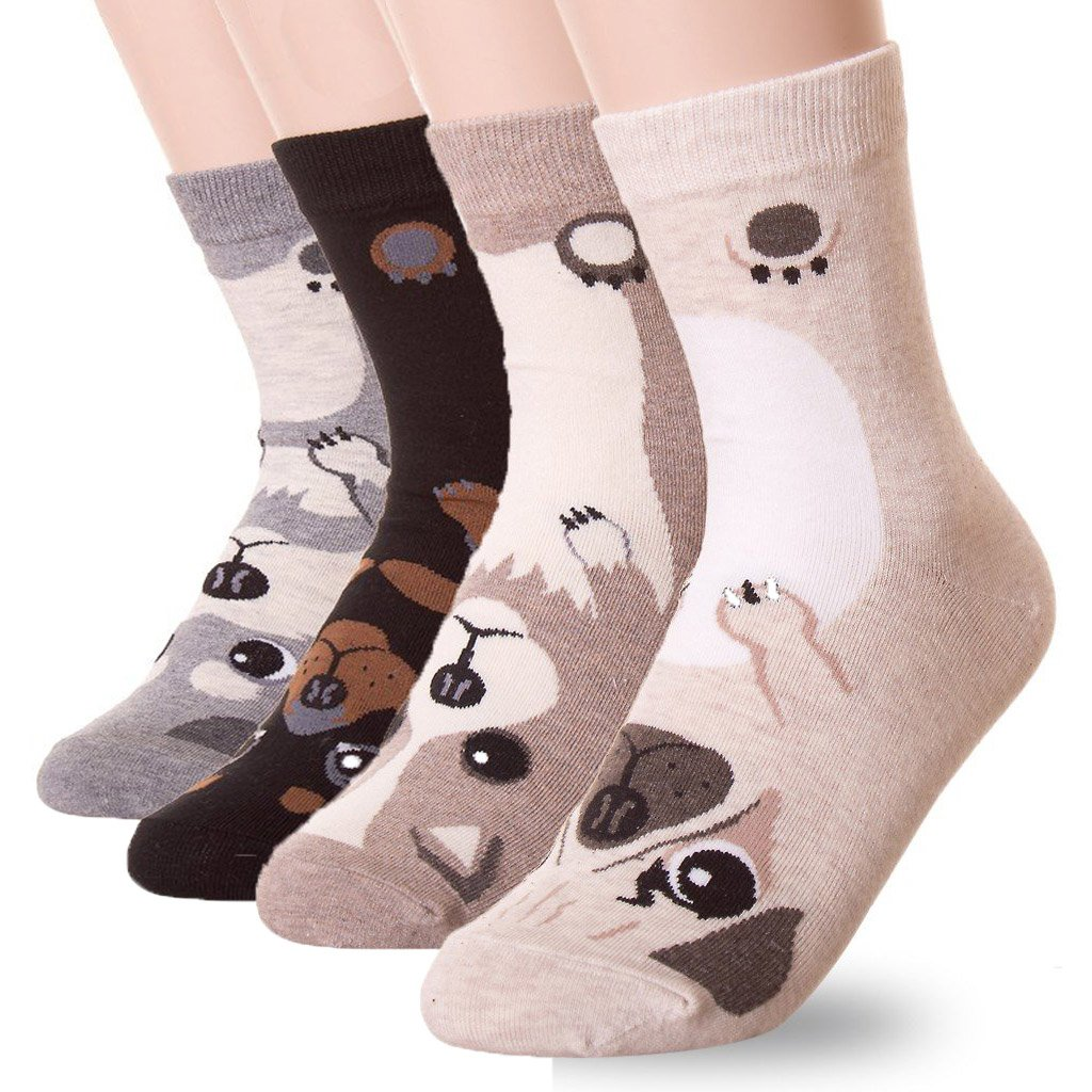 DearMy Women's Lovely Design Casual Cotton Crew Socks | Good for Gift Idea| One Size Fits All | Gifts for Women