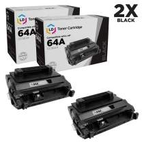 LD Remanufactured Toner Cartridge Replacements for HP 64A CC364A (Black, 2-Pack)