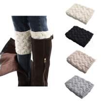Women Boot Cuffs - Winter Knitted Short Boots Cuffs Socks Crochet Boot Cuffs Short Leg Warmers Topper Socks Christmas Gift