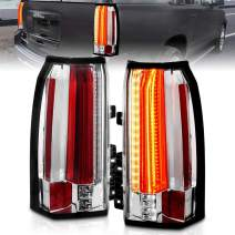 AmeriLite Chrome Intense LED Parking Light Bar LED Brake and Reverse Tail Lights for 2015-2018 GMC Yukon YukonXL SUV