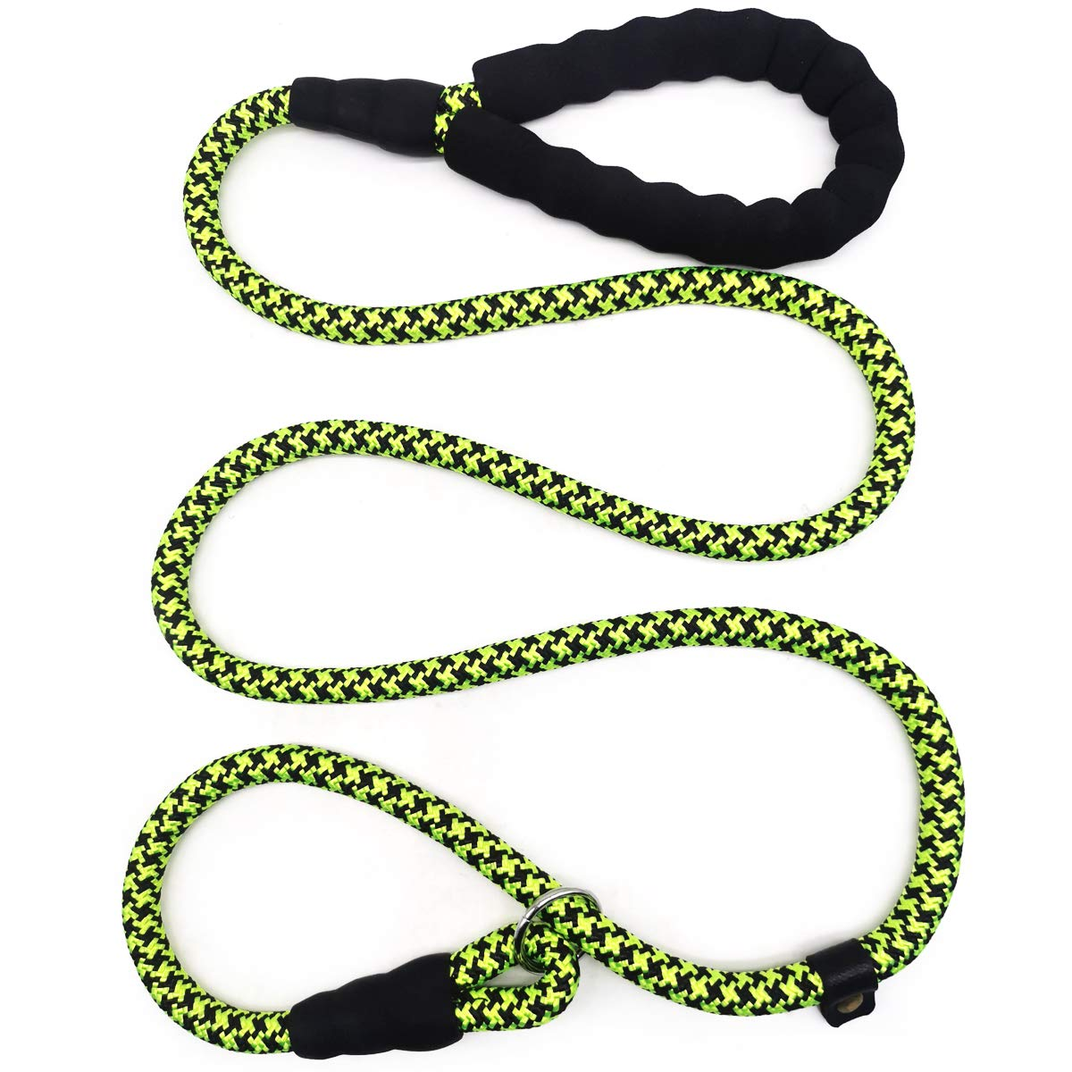 Mycicy Durable Rope Slip Collar Choke Dog Lead- Extremely Comfortable Handle No-Pull Pet Training Leash for Medium and Large Dogs-1.5mx12mm