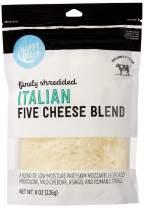 Amazon Brand - Happy Belly Shredded Italian 5 Cheese Blend, 8 Ounce