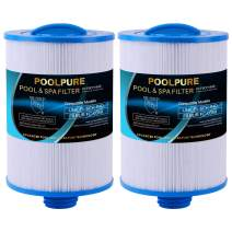 POOLPURE Spa Filter Replaces Pleatco PWW50P3(Coarse Thread), Unicel 6CH-940, 817-0050, Filbur FC-0359, 25252, 03FIL1400, Waterway Front Access Skimmer, 45 sq.ft Screw in SAE Thread Filter, 2 Pack