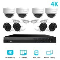 LaView 8 Channel Ultra HD 4K Home Security Camera System with 4 x 8MP IP Dome and 4 x 8MP Bullet Cameras, 100ft Night Vision, Weatherproof Expandable Surveillance Camera System NVR 2TB HDD