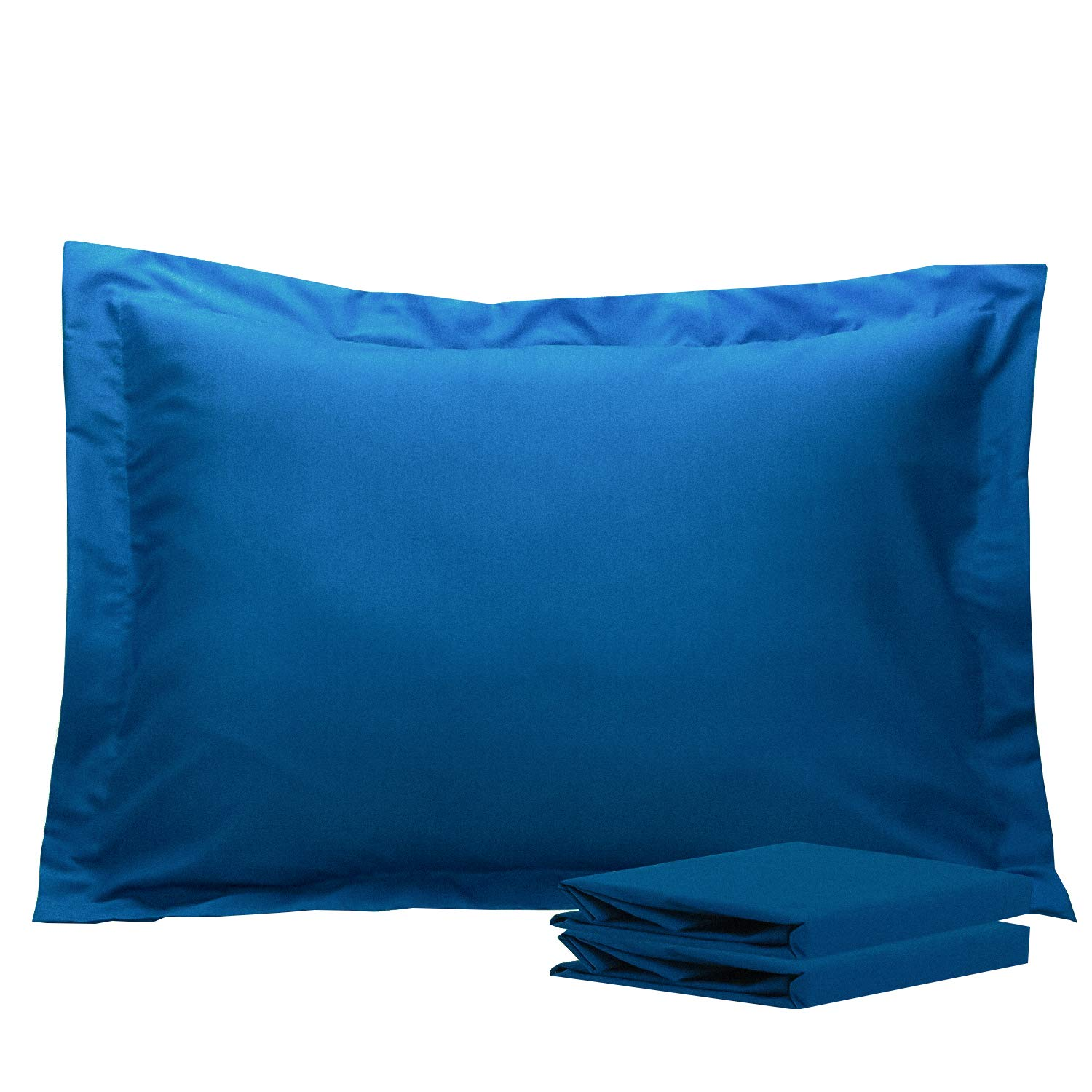 NTBAY Standard Pillow Shams, Set of 2, 100% Brushed Microfiber, Soft and Cozy, Wrinkle, Fade, Stain Resistant, Standard, Royal Blue