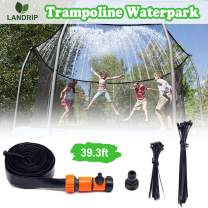 Landrip Trampoline Sprinklers for Kids, Trampoline Spray Hose Water Park Fun Summer Outdoor Water Game Toys for Boys and Girls(39.3 Feet)