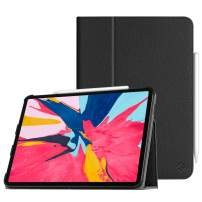 """Fintie Folio Case for iPad Pro 11"""" 2018 [Supports 2nd Gen Pencil Charging Mode] - PU Leather Folio Stand Cover with [Secure Pencil Holder] Auto Sleep/Wake for iPad Pro 11 inch, Black"""