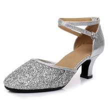 SWDZM Women's Sequined Latin Dance Shoes/Ballroom Party Salsa Dance Shoes Model-DY225