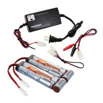 Tenergy8.4V NiMHAirsoft Battery3800mAhFlatBattery PackwithStandardTamiya Connector forAirsoft Guns, RC Cars/Planes(Optional Charger)