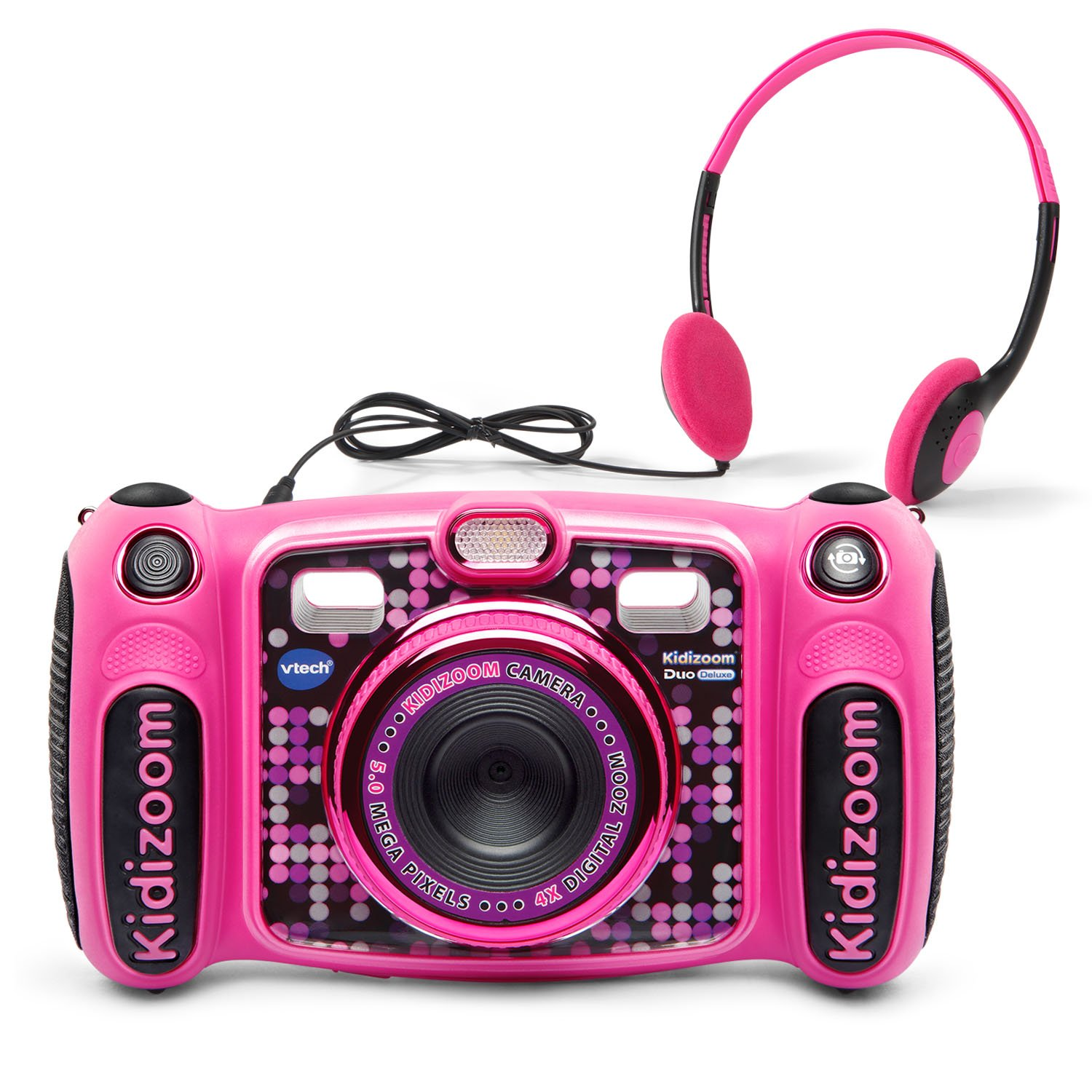 VTech Kidizoom Duo 5.0 Deluxe Digital Selfie Camera with MP3 Player & Headphones, Pink, Great Gift For Kids, Toddlers, Toy for Boys and Girls, Ages 3, 4, 5, 6, 7, 8, 9