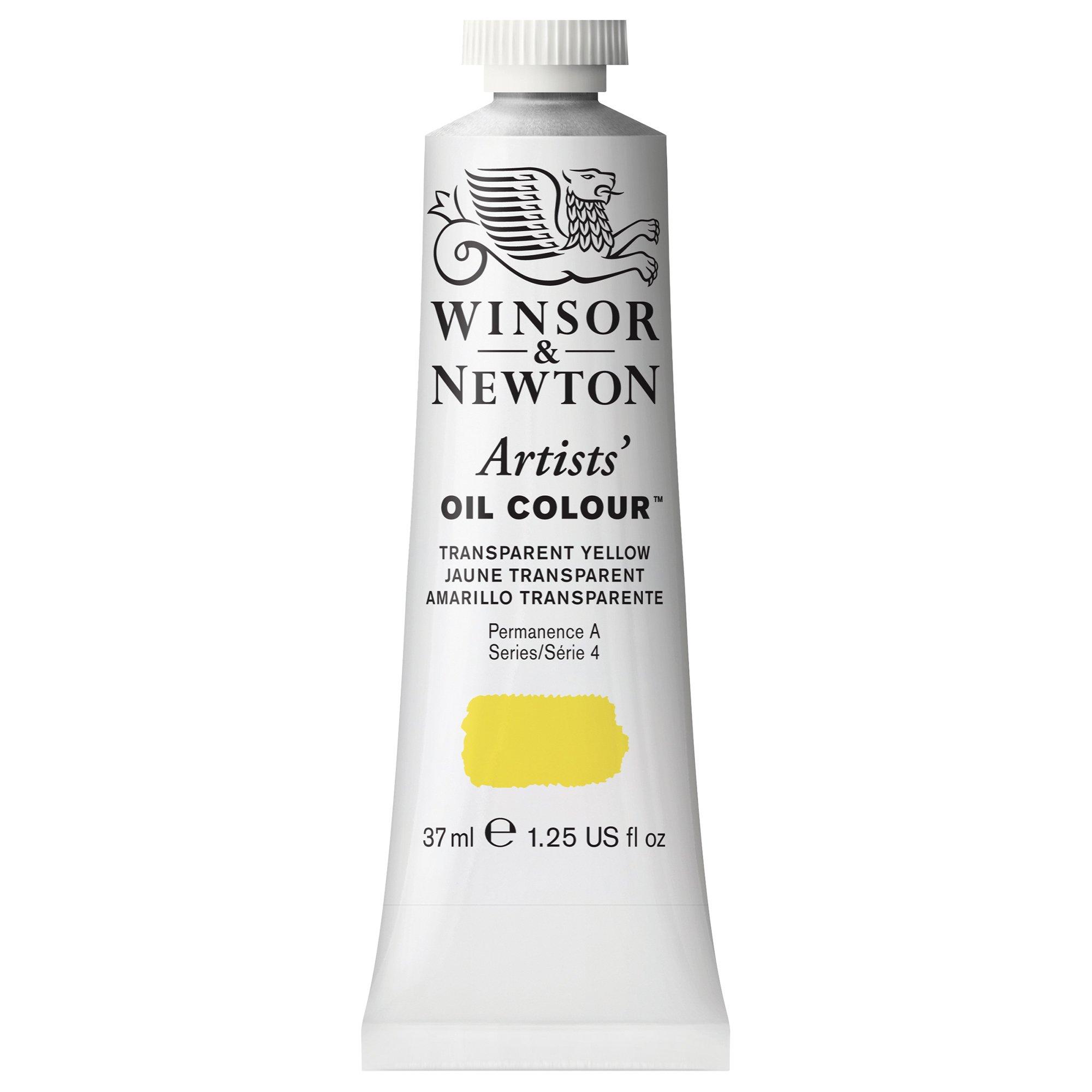 Winsor & Newton Artists' Oil Colour Paint, 37ml Tube, Transparent Yellow