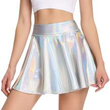 High Waisted Pleated Skirts for Women Girls Skater Tennis Skorts with Shorts Pockets Cute Mini A-Line Skirt
