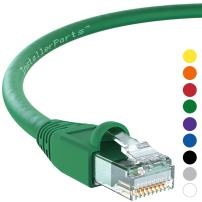 InstallerParts Ethernet Cable CAT6A Cable UTP Booted 50 FT - Green - Professional Series - 10Gigabit/Sec Network/High Speed Internet Cable, 550MHZ