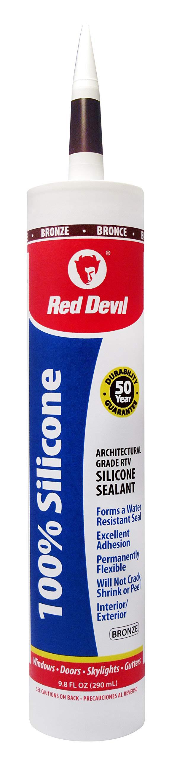 Red Devil 08164012 Architectural Grade 50 Year 100% Silicone Sealant, Bronze, 9.8 oz Cartridge, Case of 12