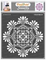 CrafTreat Mandala Wall Stencils for Painting Large Pattern - Mandala 2-12x12 Inches - Reusable DIY Art and Craft Stencils - Indian Mandala Stencil 12x12 - Mandala Wall Stencil Large