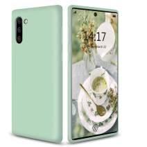 abitku Galaxy Note 10 Plus Case Silicone, Slim Soft Liquid Gel Rubber Shockproof Microfiber Cloth Lining Cushion Compatible with Samsung Galaxy Note 10 Plus/5G 6.8 inch, Mint