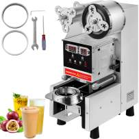 VEVOR White Fully Automatic Cup Sealer Machine 95MM/90MM Electric Cup Sealing Machine 500-650 cups/h With Digital Control LED Panel for Sealing Plastic Cups of PP, PET, and Paper Cups