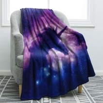 "Jekeno Unicorn Galaxy Throw Blanket Smooth Soft Blanket for Sofa Clair Bed Office 50""x60"""