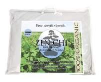 ZEN CHI Buckwheat Pillow- Organic Standard Size (14x20) w Natural Cooling Technology- All Cotton Cover w Organic Buckwheat Hulls