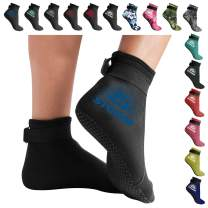BPS 'Storm Sock' Ultra Premium Water Fin Sock (Low Cut - Unisex) 3mm Neoprene Glued and Blind Stitched w/Fit Adjustment Straps for Snorkeling, Tide-Pooling and All Water and Sand Activities…