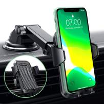 VANMASS Universal Car Phone Mount,【Patent & Safety Certs】Upgraded Handsfree Stand, Dash Windshield Air Vent Phone Holder for Car, Compatible iPhone 11 Pro Xs Max XR X 8 7 6, Galaxy s20 Note 10 9 Plus