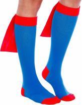 Superhero Compression Running Socks - Graduated 15-25 mmHg Knee-Hi Caped Fun Socks