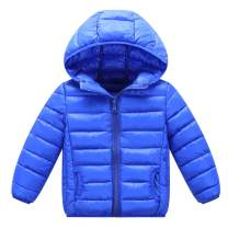 Happy Cherry Baby Hooded Down Coat Lightweight Warm Jacket Puffer Outerwear 3-7T