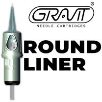 GRAVIT Tattoo Needle Cartridges 3RL - Round Liner 1003RL | 20pcs Per Box | Disposable Needles for Tattoo & Permanent Makeup | Compatible with Rotary Machines & Pens