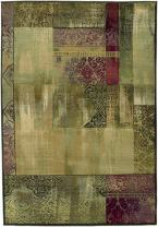 "Oriental Weavers Generations 2'3"" x 4'5"" Machine Woven Rug in Green"