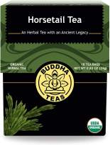 Buddha Teas Organic Horsetail Tea | 18 Bleach-Free Tea Bags | Optimizes Urinary Tract Health | Supports Hair Growth and Bone Development | Natural Source of Vitamin C | Caffeine-Free | No GMOs